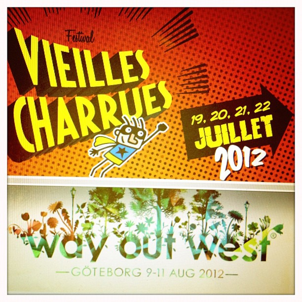 #Lucky girl that I get to go to these fests for work @Charrues @wayoutwestfestival   (Taken with  Instagram )