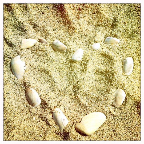 I #heart the #beach  (Taken with  Instagram )