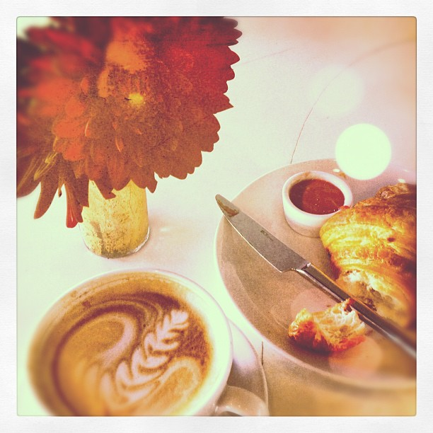 Breakfast of #coffee addicts…  (Taken with  Instagram )