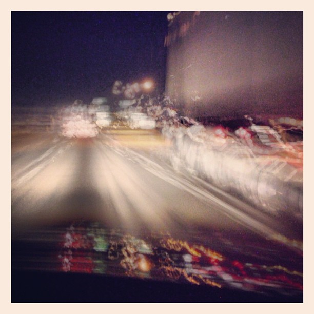 #slowshutter #drive #losangeles  (Taken with  Instagram )