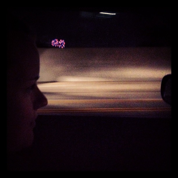 #disneyland #fireworks on the drive home @jasmincharters #excitement  (Taken with  Instagram )