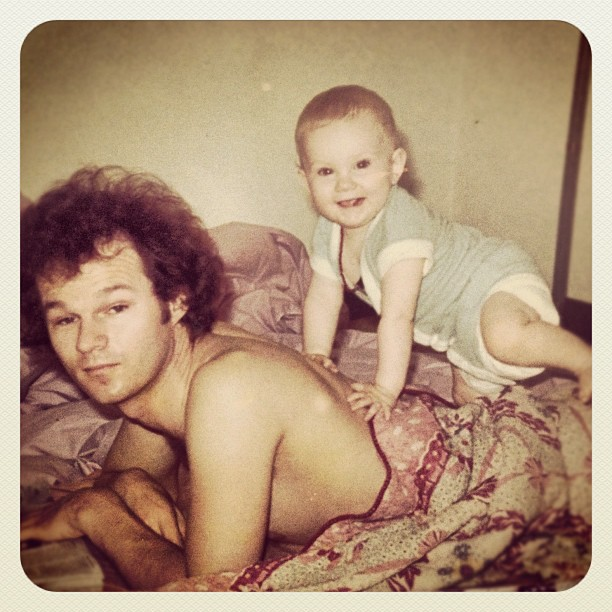The mad genius hair, camera tech head, sweet tooth, trainspotting, camera obsessed, the list can go on… Brilliant father of mine. Love you #happyfathersday to all the rad dads out there!  (Taken with  Instagram )
