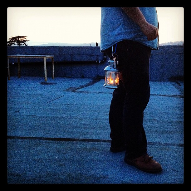 Have #lantern #carabiner will travel #rooftop #campvibes @jasmincharters @jarnhold  (Taken with  Instagram )