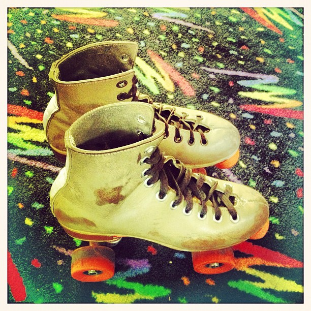 This is happening right now #birthday #rollerskating awesome @jasmincharters Woop Woop! (Taken with  Instagram )