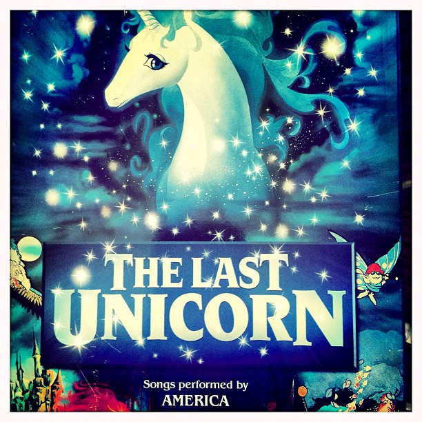 OMG this just #mademyday #thelastunicorn changed me as a child… Haha Fab :) (Taken with  Instagram )