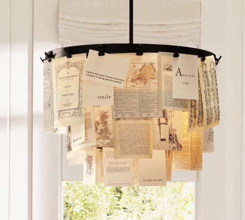 So…Matthew and I have never needed a chandelier so badly.    robot-heart :      Oh So Beautiful Paper :  Pottery Barn
