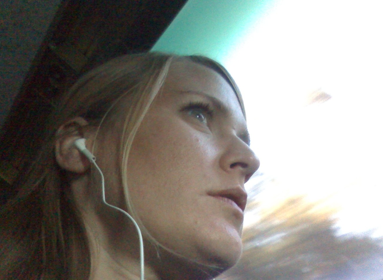 I survived the last two hours of our charter bus ride home from the mountains with 42 seventh graders by listening to a lot of non-classroom-appropriate music on my headphones.   I don't really know why that helped.  Also, the glazed look in my eyes here is not an attempt to look dreamy or wistful.  It's the deepest form of tiredness.   But what a good three days it was: crisp Fall air, mountains, hiking, and camp.