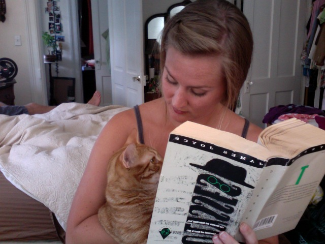 GPOYAFCFAUAUBW:   Gratuitous Picture of Yourself and F. Cat Fitzgerald and Ulysses and Unmade Bed Wednesday