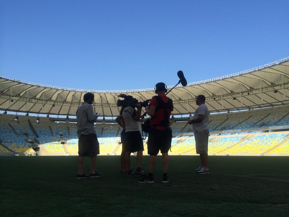 Crew with Ronaldo  Rio, Brazil