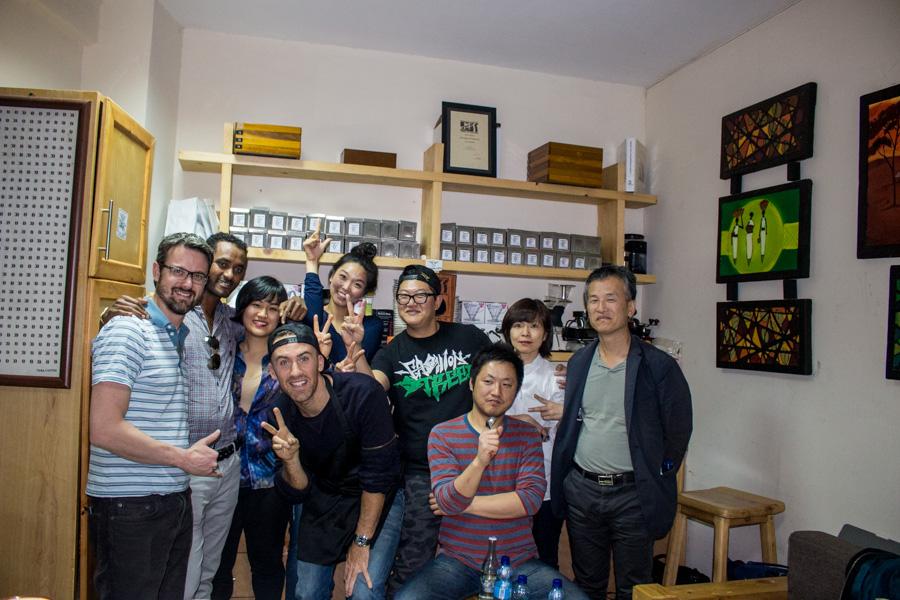 Phil, Bire, Anna, Hankook Coffee, 180 Roasters, Coffee Libre and Golden Future Trading CEO Mark Hiriart