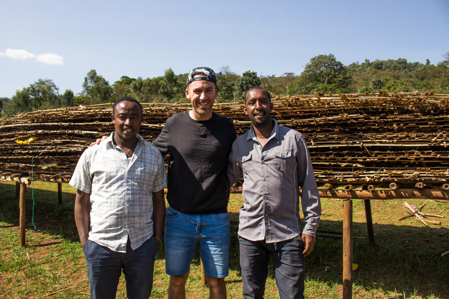 Mark Hiriart with Wote Konga washing station owner Abiyot Ageze
