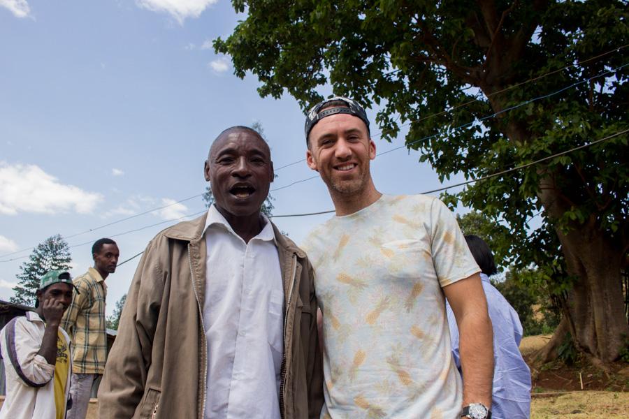 Chelelektu washing station manager Mersha Asefa with Mark Hiriart