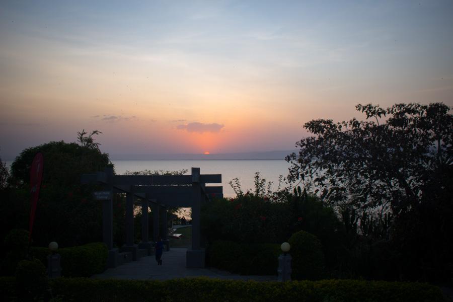 Sunset over lake Awassa