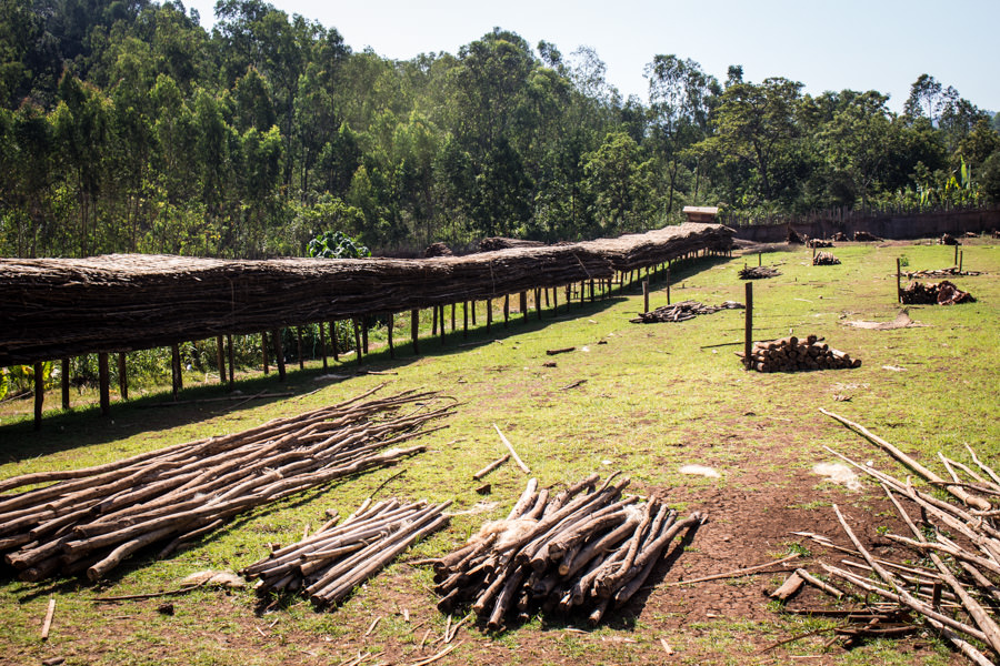Raised beds at Konga Washing Station