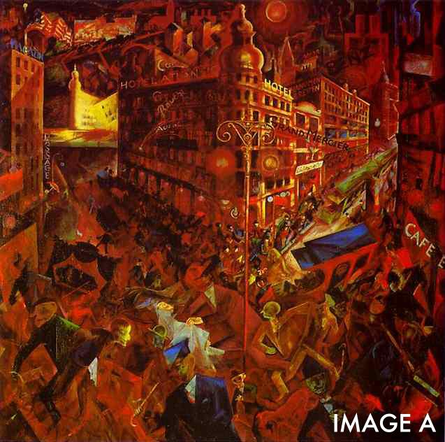 Metropolis  by George Grosz.