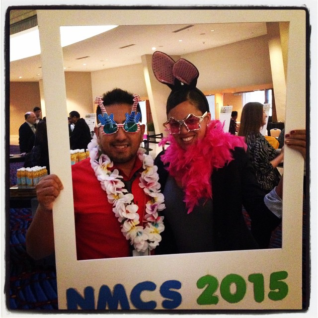 At NMCS 2015 with James Garcia, Chair for the Committee for the Advancement of Racial and Ethnic Diversity, CARED.