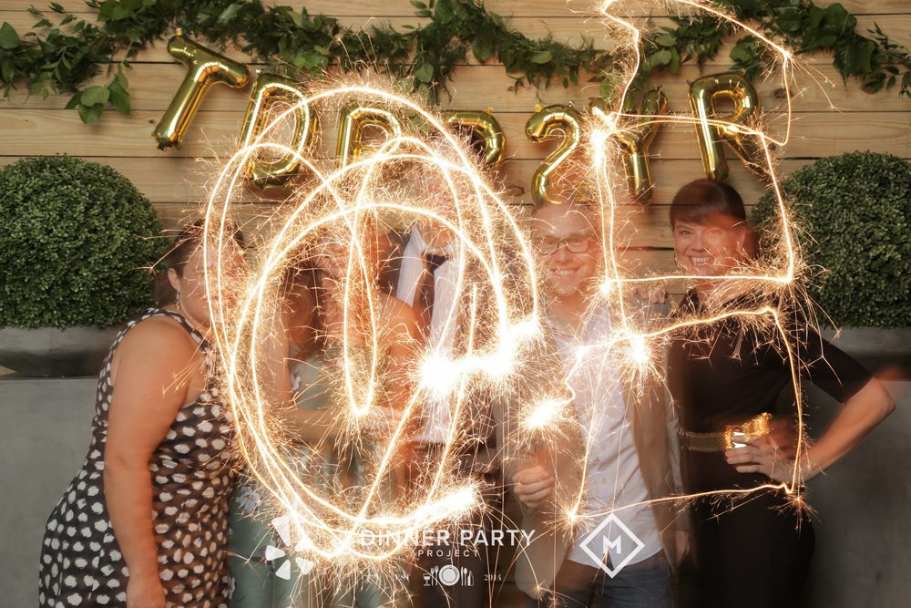 Don't put the sparklers in front of your face, unless you want to remain anonymous.