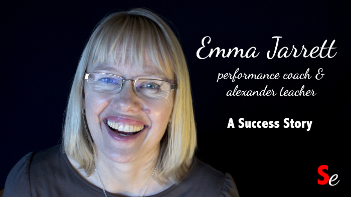 This is the custom thumbnail I created for promoting a video of Performance Coach Emma Jarrett.  Notice the use of simple text, plus the addition of the Story Envelope Watermark in the bottom right hand corner.  It looks a lot more professional than just one of the terrible three options YouTube gave me.