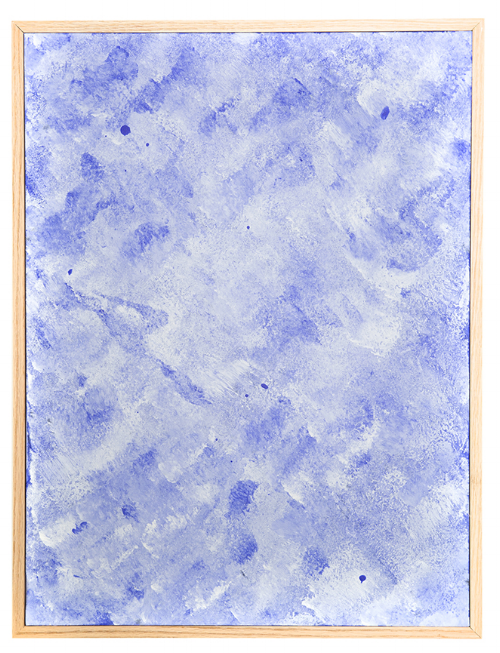 Surface 2 , 2014, heat sensitive pigment & acrylic on canvas, 18 x 22 inches.