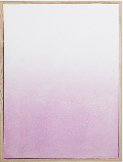 Surface 3 , 2014, light sensitive pigment & acrylic on canvas, 18 x 22 inches.
