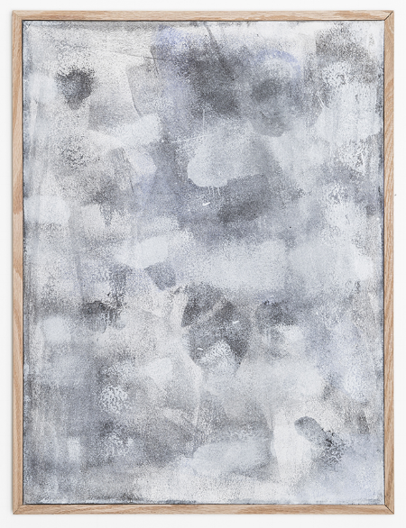 Surface 8 , 2014, heat sensitive pigment & acrylic on canvas, 18 x 22 inches.