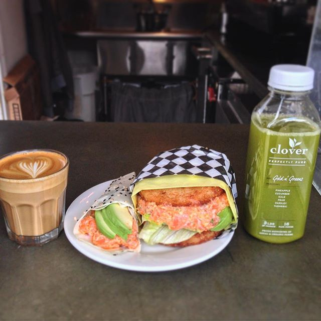 Our friends make us really happy. :) A huge part of our job requires collaboration with great companies like @cloverjuices , #iroha sushi, and @fourbarrelcoffee . We owe our success back out to the people that support us. Thanks for everything.  #foodporn #coffeeart #pressedjuice