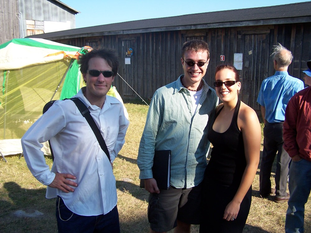 AMC alumni Vincent Feletti, Chris Morano and Vanessa Mio