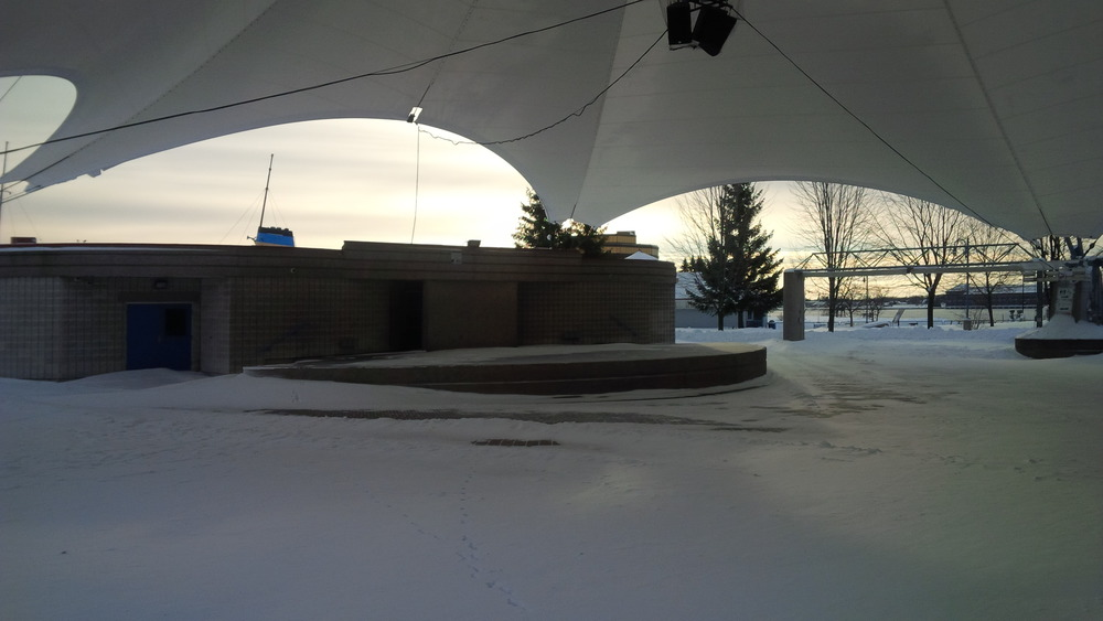 Roberta Bondar Pavilion...they have promised the snow will be gone for the reunion!