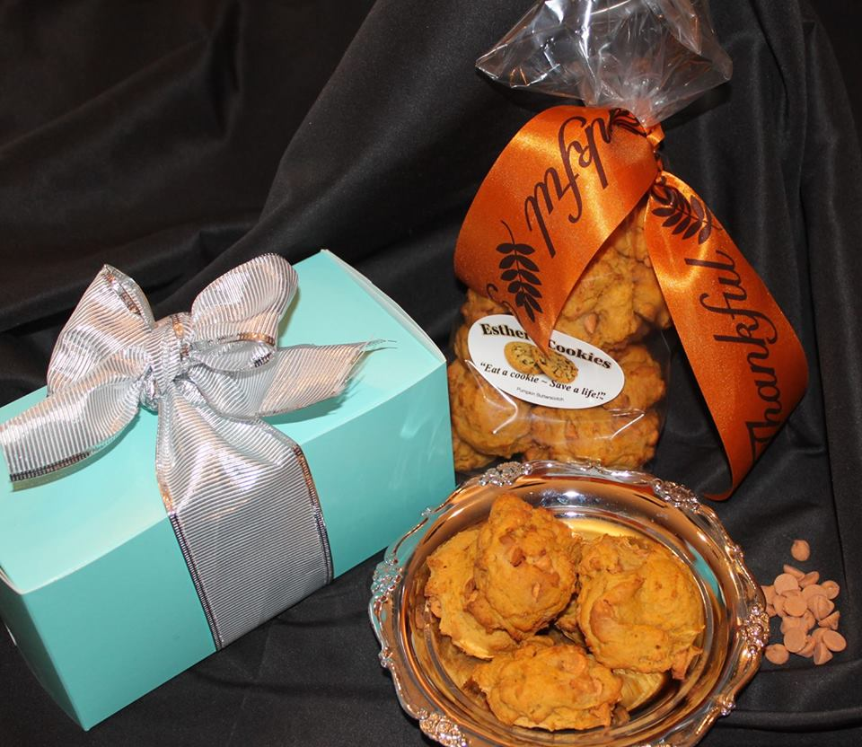 Featured above are Esther's Pumpkin Butterscotch which make a delightful Hostess gift and delicious for any occasion.  All flavors available for gifts.  Just choose the flavor and we do the rest!   Order Esther's Cookies today.  330.260.8190