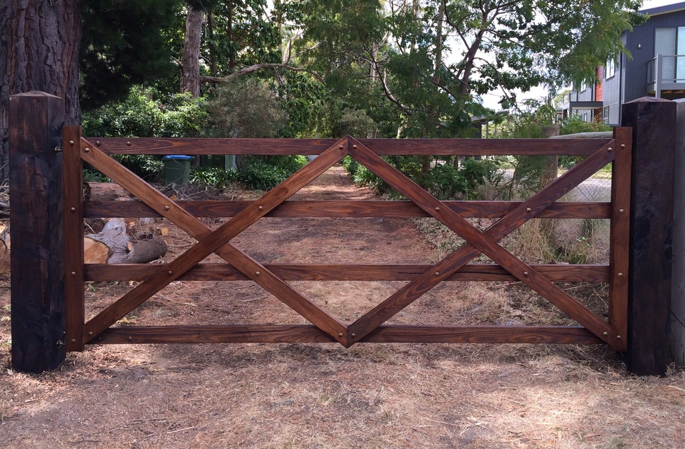 Rustic Budget Bolted Hardwood Gate