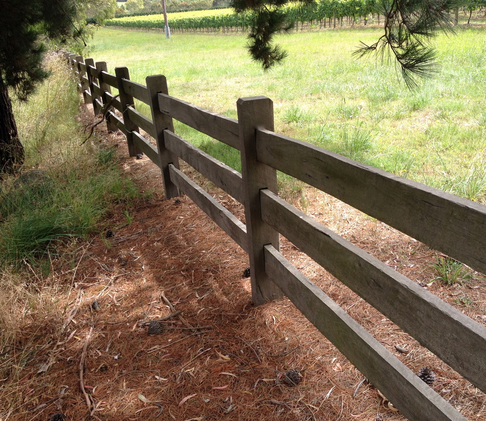 Post and rail fencing melbourne DIY