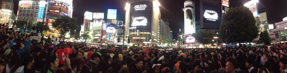 Tokyo in the middle of Shibuya Hatchiko crossing on Halloween- W.O.W