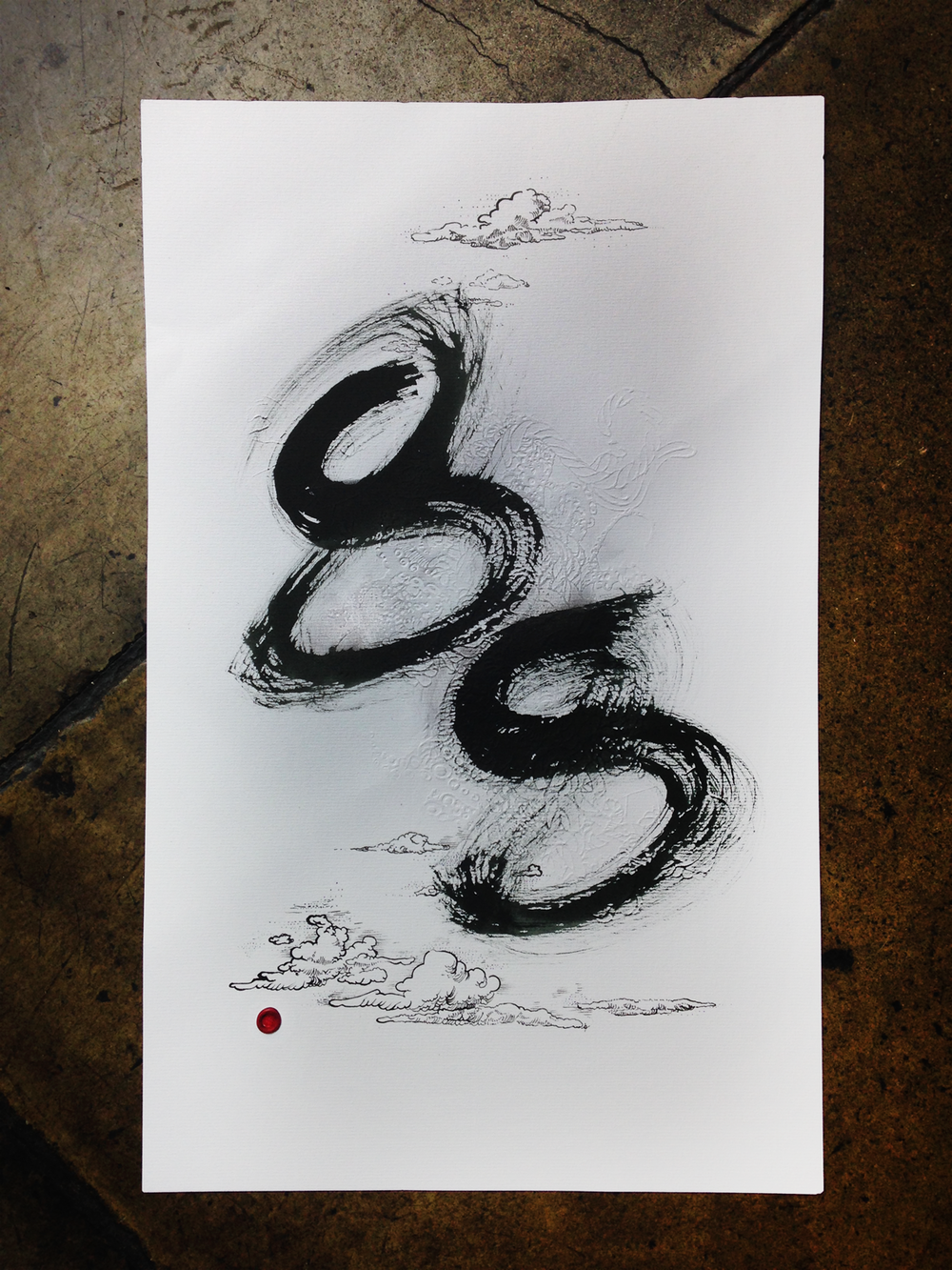 '.88', Embossed paper, ink and wax signature, 2014, 305 x 488mm, Commission work for PosBoss