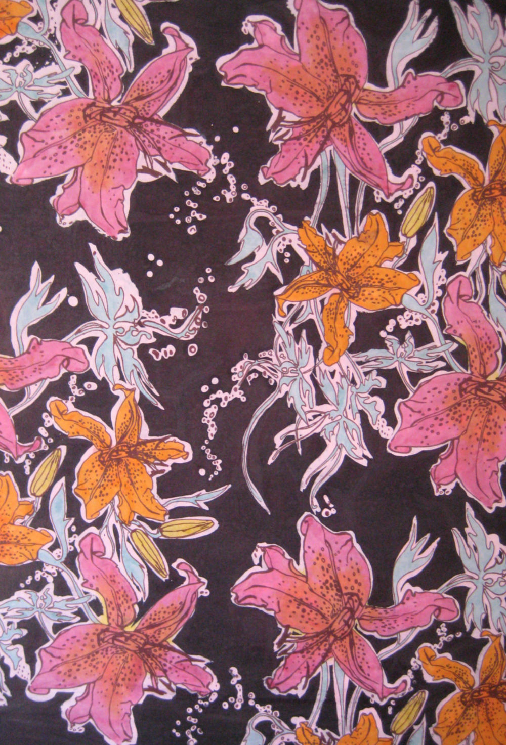 'Pacific Palate' , Batik, and multiple dye processed silk, 2006