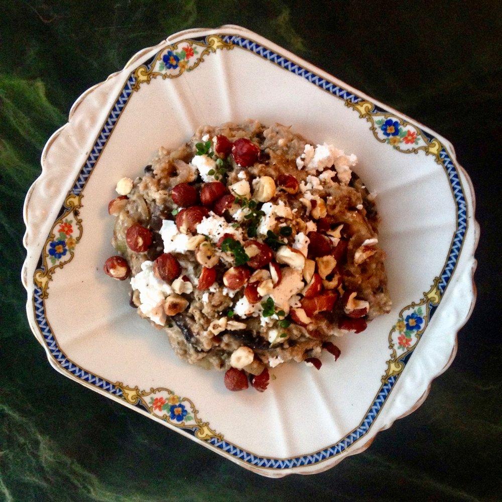 'Shroom Porridge w/ Chèvre