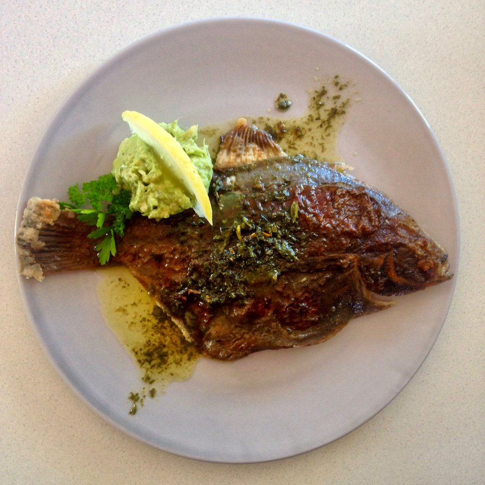Flounder w/ Waiheke Herb Butter