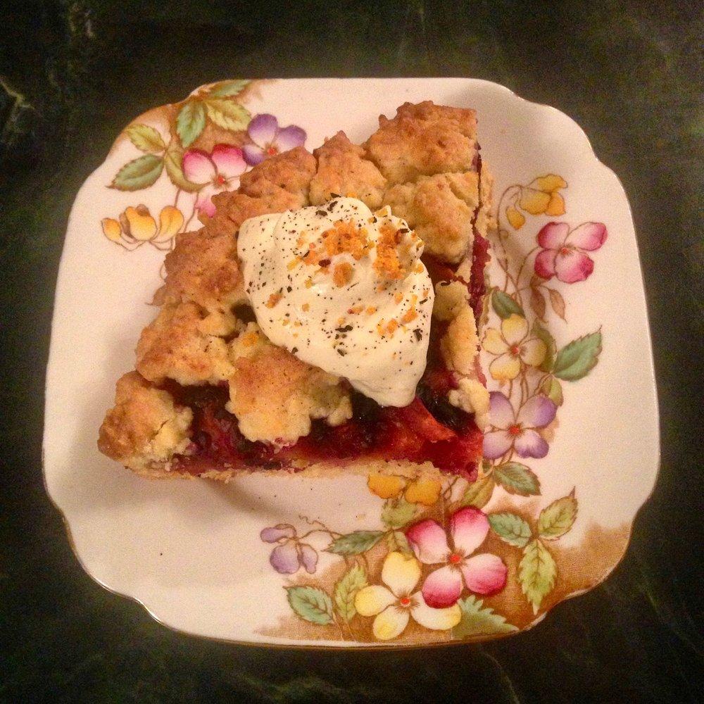 Rhubarb Shortcake