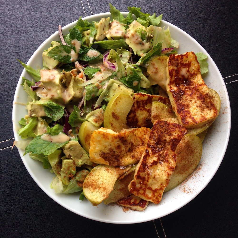 Fried Apple Cinnamon Haloumi