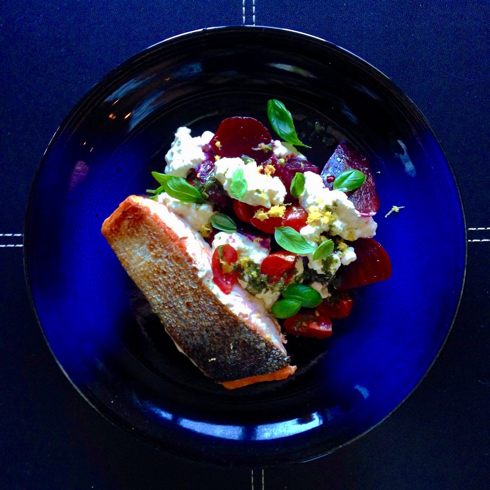 Crispy Skin Salmon & Beetroot Salad