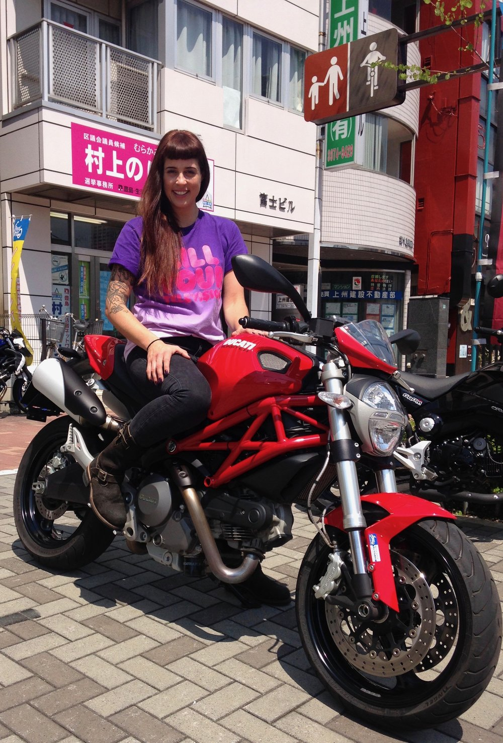 Japanese Roady #1 w/ the Ducati Monster 800. Tokyo - Mt Fuji - Shimoda/ Izu Penisular