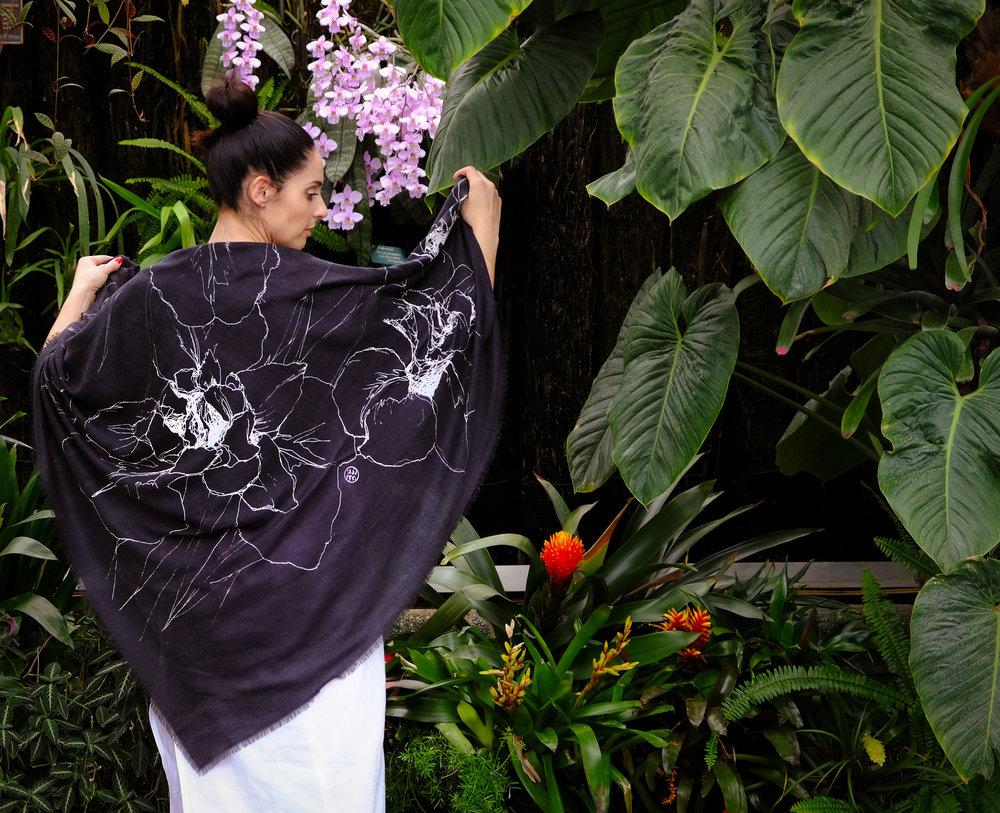 'Iris' worn as a shawl