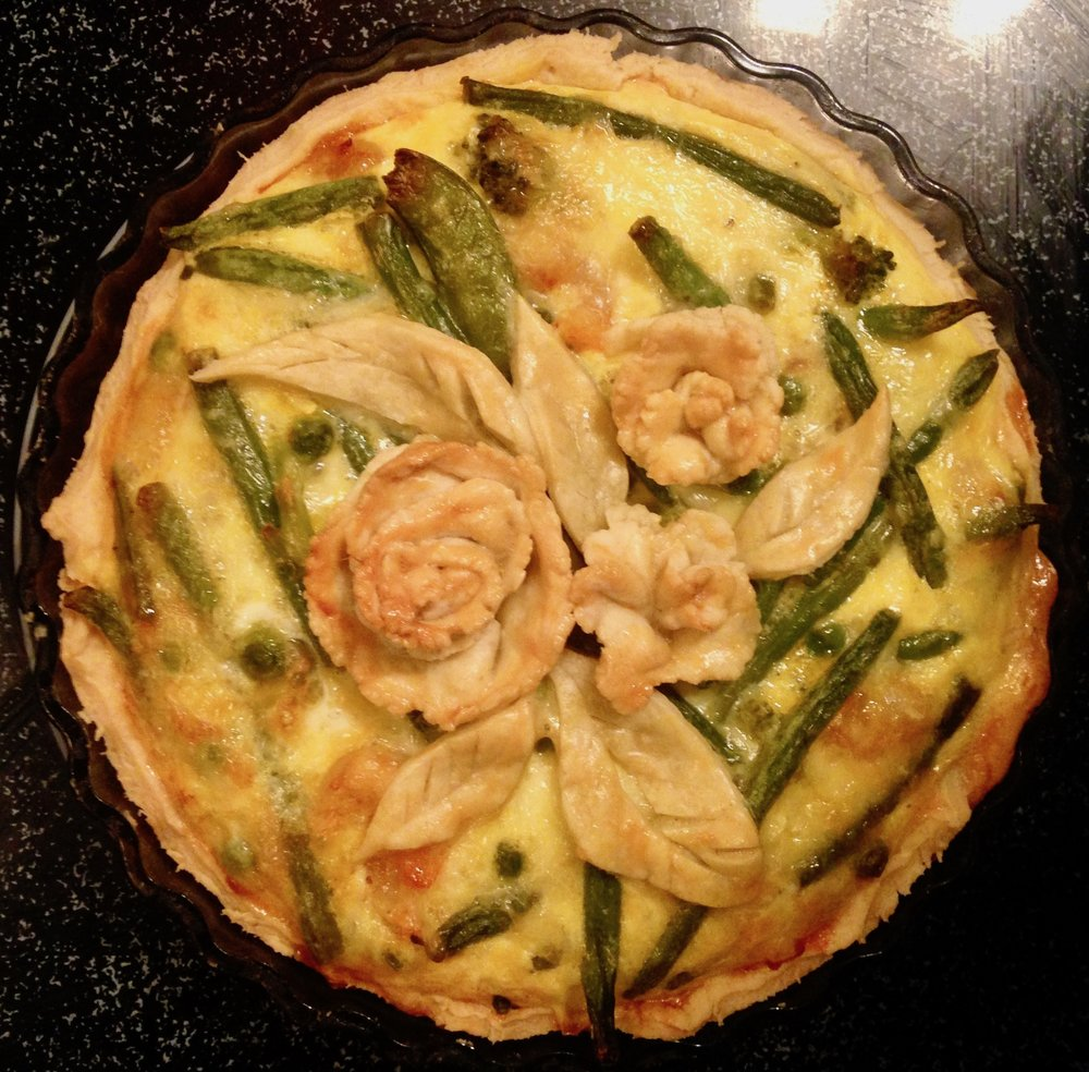 Spring Asparagus & Cheese Quiche