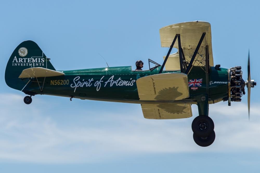 "Boeing-Stearman biplane ""Spirit of Artemis"""