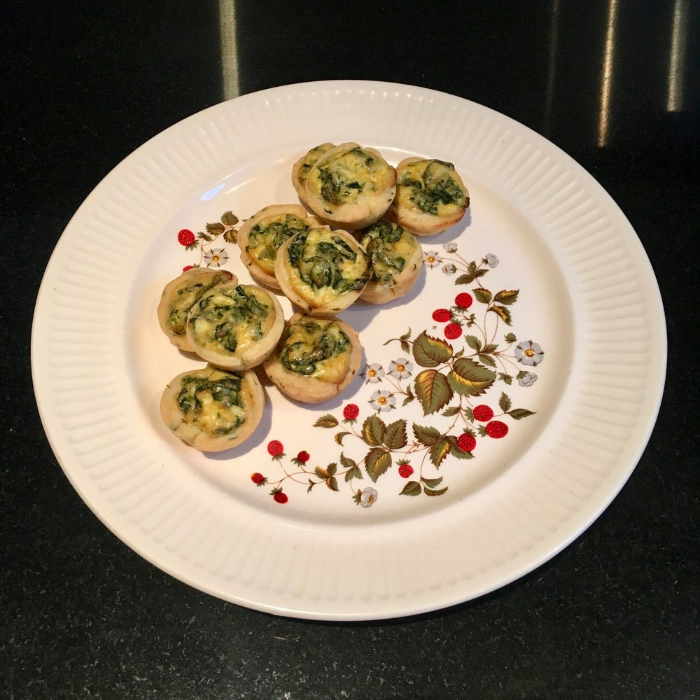 Thyme Pastry Ricotta &  Spinach Bites