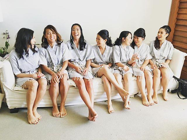 The beautiful bridesmaids of Lan & Lawrence's Wedding 😘👭👭👭👭