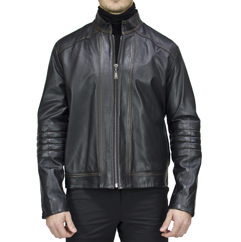 Luis perforated moto jacket. [$615]