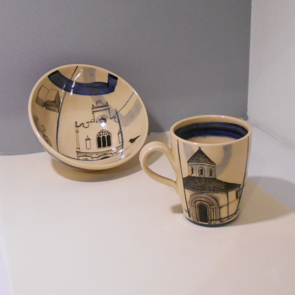 Daniel Wright   Cereal Bowl and Large Mug  ceramic  £29 (bowl) and £27 (mug)