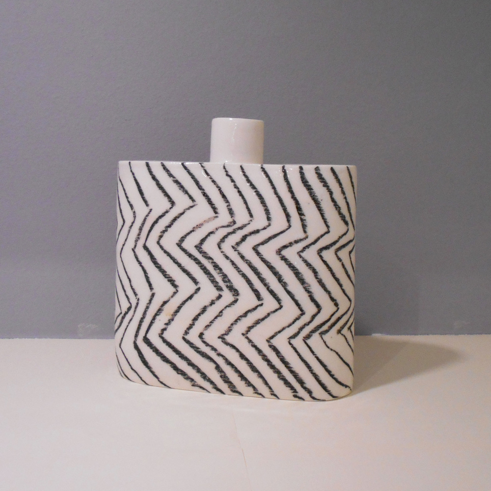 Katharina Klug   Large Oval Flask  porcelain  £110