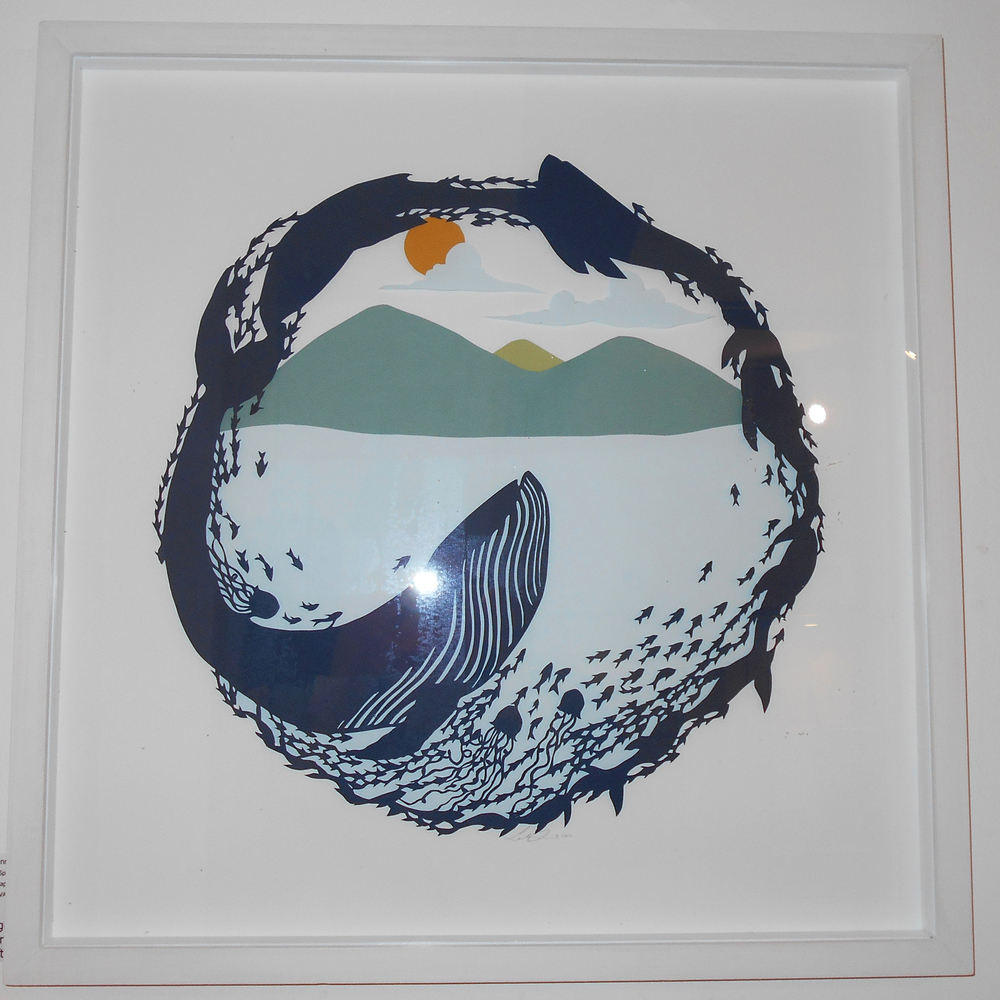 Sarah Dennis   Whale Spirit  papercut  £660 (framed)