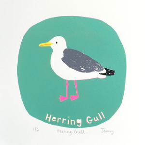 Jenny Seddon  Herring Gull  screenprint  £73